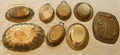 Window dressing Vintage Collection 8 Silverplate Oval Platters Serving Bowls