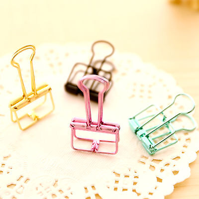 4Pcs Binder Clip Metal Classic Office Stationery Paper Documents Clip Hot BS