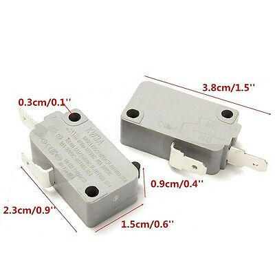 2Pcs Microwave Oven KW3A Door Micro Switch Normally Open for DR52 125V/250V