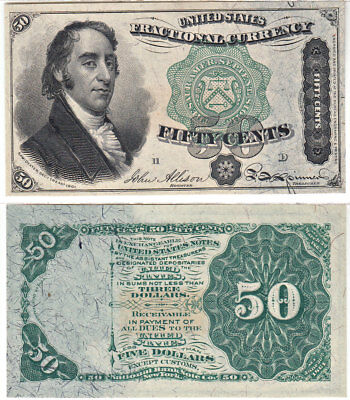 50 Cent 4th Issue Fractional Currency F-1379 Dexter CCU