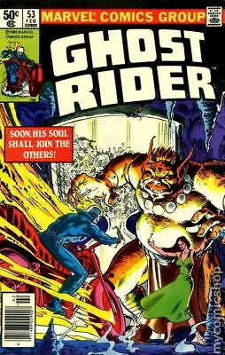 Ghost Rider (1st Series) #53 1981 VG+ 4.5 Stock Image Low Grade