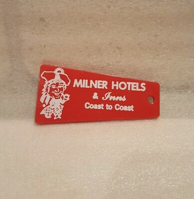 *vintage* Milner Hotel & Inn Room Key Fob W Jefferson St Louisville Ky Kentucky