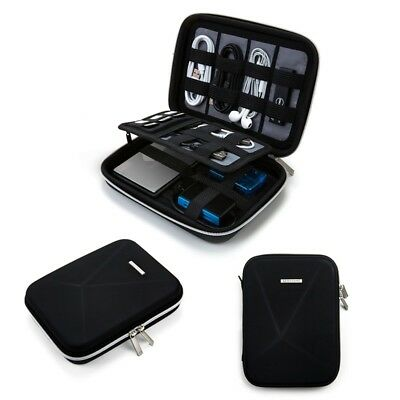 Hard Drive Bag Travel External Electronic Organizer Case Accessories Cable Usb