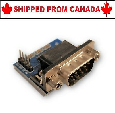 RS232 to TTL Serial Port Converter Male DB9 Connector - SHIPPED FROM CANADA