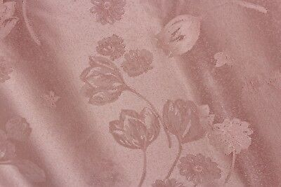 NWT 70 inch Round Pink Damask Tablecloth Cotton Polyester Wrinkle Resistant