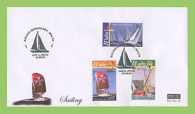 Malta 2003 Sailing, yachts set on First Day Cover, Birkirkara