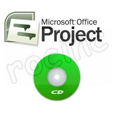 Microsoft Project 2007 Professional Full Version 2 Computers on CD
