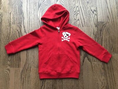 NWOT Gymboree Toddlers Boys Red Zip Up Hoodie Size 4T