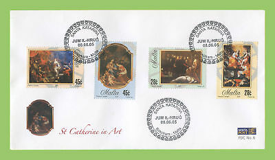 Malta 2005 St Catherine in Art set First Day Cover, Birkirkara