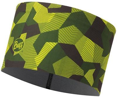 BUFF Tech Fleece Headband BLOCK CAMO GREEN Stirnband Schweissband grün oliv