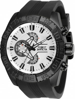 Invicta Men's Pro Diver Chrono 100m Black Stainless Steel/Silicone Watch 25995