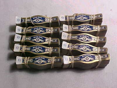(10) Bundle/Pack/Lot of Vintage Cigar Bands - Blue Seal