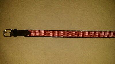 EUC Boys Vineyard Vines Club Belt Red Whales Size 28