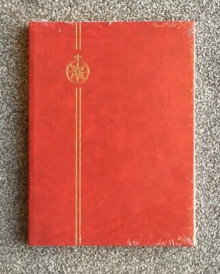 NEW** A4 Red Compass Stamp Album Stockbook -8 Pages/ 16sides ~BLACK PAGED