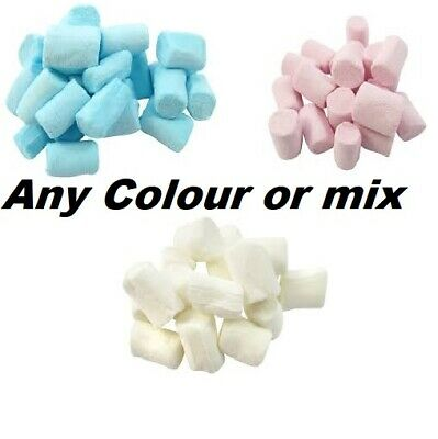 Blue White Pink Mini Mallows Marshmallows Retro Sweets Party Bag Baby Shower