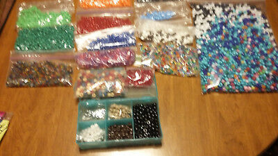 Large Lot Of Misc Plastic Beads For Crafts Powwow Craft Vendors