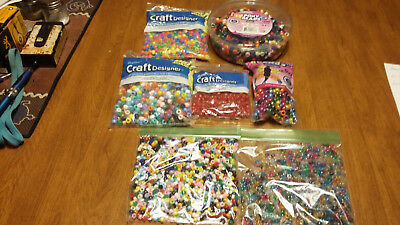 Huge Lot Of Misc Plastic Pony Beads For Crafts Kids Powwow Crafts Vendors