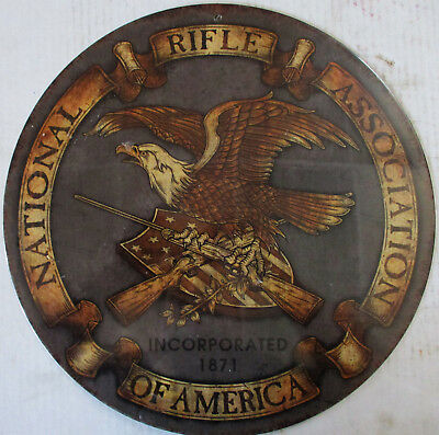 "National Rifle Association 14"" Round Metal Sign"