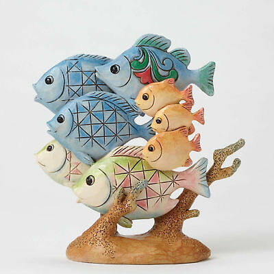 Jim Shore Heartwood*PINT SIZE TROPICAL FISH FIGURINE*New*LIFE ON THE SEA*4052064