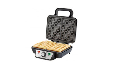 2 Slice Stainless Steel Electric Waffle Maker 1Kw Non-Stick Temperature Control