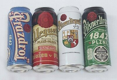 Pilsner Urquell Beer Cans.2018 Limited edition.Set of 4. Empty. 0,5 liter. USA.