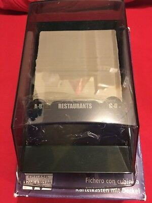 """NEW Unused Rolodex Covered Tray Card File 2.25"""" X 4"""" Cards Green VIP 24C Model."""