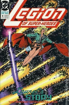 Legion of Super-Heroes (4th Series) #9 1990 VF Stock Image