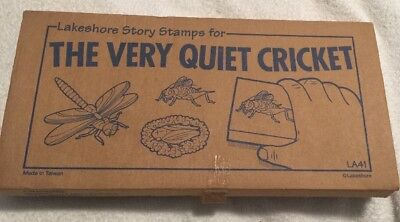 """""""The Very Quiet Cricket"""" Eric Carle Lakeshore Story Stamps Educational NEW"""