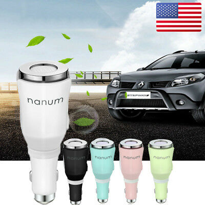 Car Air Humidifier Dual Power USB Charger Purifier Essential Oil Aroma Diffuser