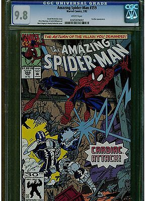 Amazing Spider-Man #359 Cgc 9.8 White Pages 1992 Cardiac Appearance Mark Bagley