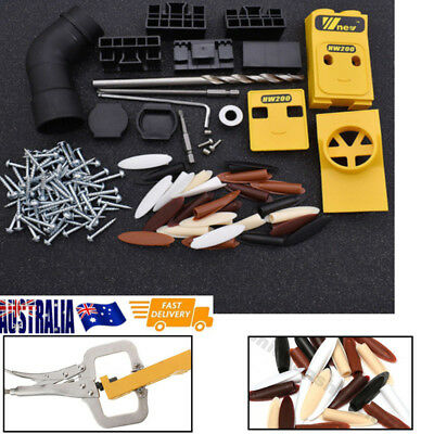 Pocket Hole Drill Jig System Woodworking Joinery Drilling Guide Tool
