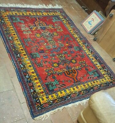 ANCIEN TAPIS  ORIENT  PERSE NOUÉ MAIN 204 x 151 CM collection XIX