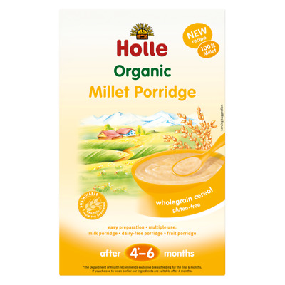 Holle Baby Cereal Millet Porridge (After 4 - 6 Months) 250G (5 Pack)
