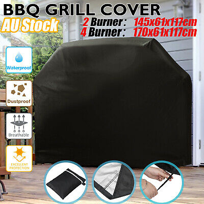 BBQ Cover 2/4 Burner Waterproof Outdoor UV Gas Charcoal Barbecue Grill Protector