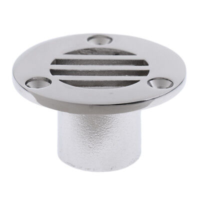 """Heavy Duty 316 Stainless Steel Boat Deck Drain for 7/8"""" Tube/Pipe"""
