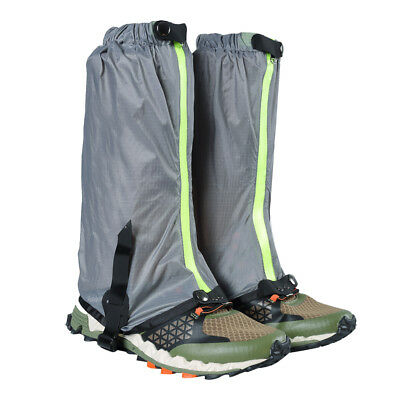 Outdoor Hiking Hunting Snow Waterproof Boots Legging Gaiters Cover Gray