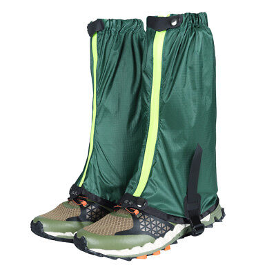 Outdoor Hiking Hunting Snow Waterproof Boots Legging Gaiters Cover Green