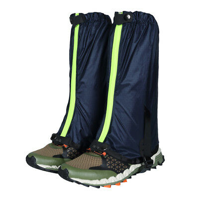 Outdoor Hiking Hunting Snow Waterproof Boots Legging Gaiters Shoe Cover Blue
