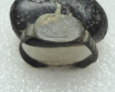 Ancient Roman Bronze Ring Original Authentic Antique Rare R53