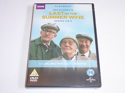 Last Of The Summer Wine - Series 3 And 4 - NEW & SEALED GENUINE UK DVD SET