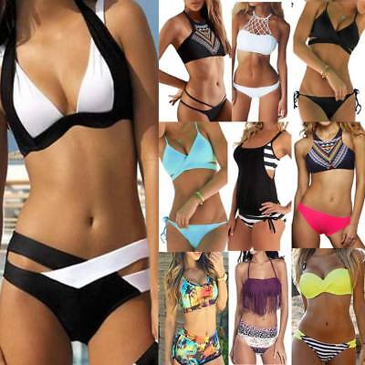 Women Push-up Padded Bra Bandage Bikini Set Swimsuit Swimwear Bathing Suit HOT
