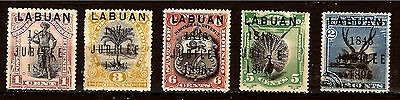 LABUAN borneo fiftieth anniversary the jubilee 1896 N°66 à 70 very valued at