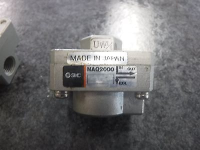(Lot Of 3) Smc Naq2000 Quick Exhaust Valves *new*