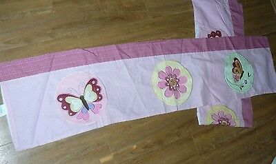 valance kids line Pink Applique Quilt  window topper Butterfly Butterflies Minky