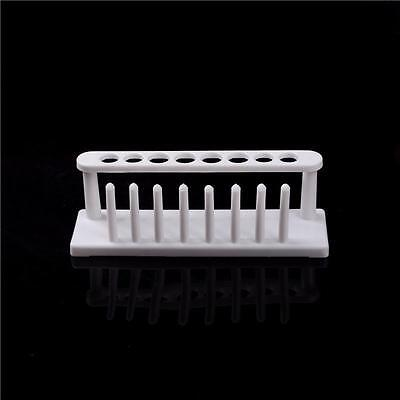 8Holes Plastic Test Tube Rack Testing Tubes Holder Storage Stand Lab Supplies^G