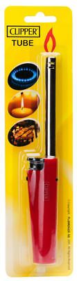 2 X Clipper Tube Long Refillable Lighter For Oven BBQ Cookers RANDOM COLOUR