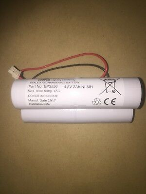 4 CELL 4.8V 3Ah Ni-MH SEALED RECHARGEABLE BATTERY EP3556 Emergency Lighting