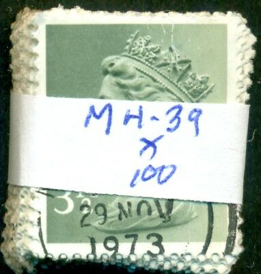 Great Britain Sg-X858, Scott # Mh-39 Machin, Used, 100 Stamps, Great Price!