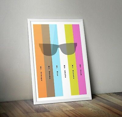 Reservoir Dogs Quentin Tarantino Inspired Retro Movie Print/ Poster A3 A4 A5