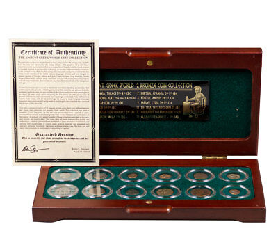 The Greek World: 12 Bronze Coin Collection with COA SKU52276